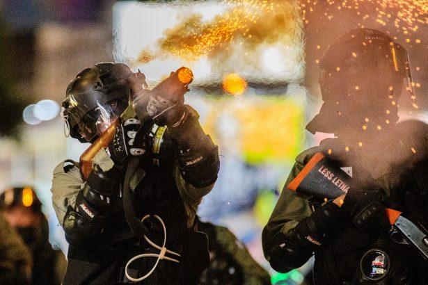 police police fires tear gas
