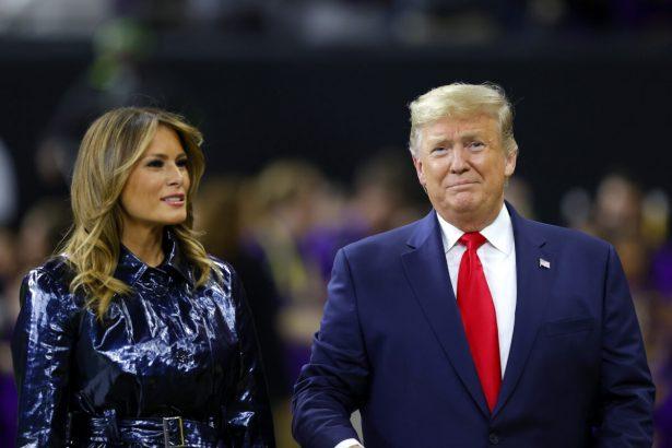 Melania Trump and President Trump