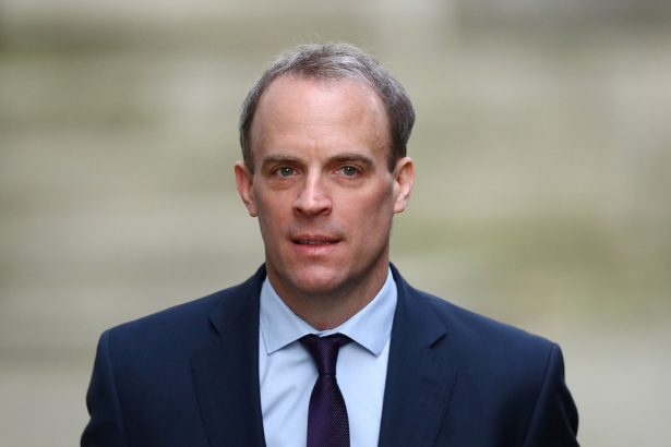 Britain's Secretary of State for Foreign affairs Dominic Raab