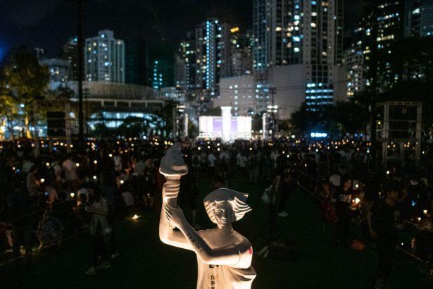 hong kong vigil tiananmen